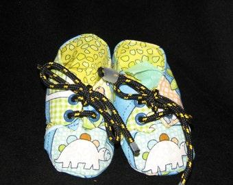 Baby Boy Dino Print Sneaker Style Booties