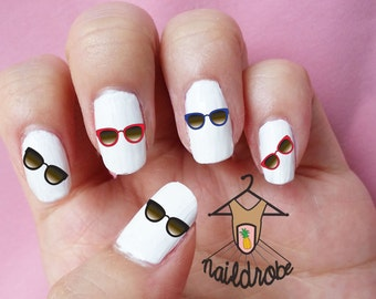 BUY 2 GET 1 FREE**Check Description** 30 Sunglass Nail Decals  (Waterslide Nail Decal)