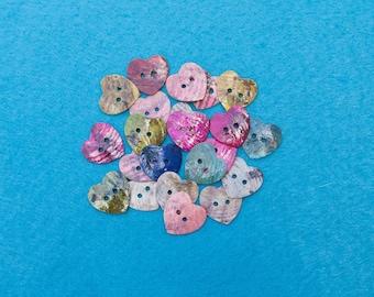Enamel Heart Buttons