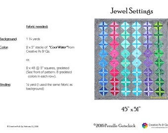 Jewel Settings - Quilting Pattern