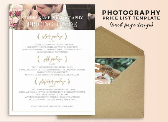 photography price list template wedding photography pricing guide wedding photography price. Black Bedroom Furniture Sets. Home Design Ideas