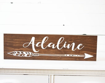 Woodland Nursery Decor- Name Sign for Nursery - Rustic Nursery Decor - Nursery Wall Art - Baby Shower Gift- New Baby Gift- Nursery