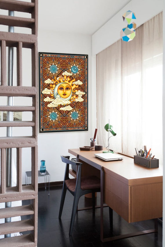 Artistic Wall Design Inc : Danmorrisart sun moon tapestry wall hanging quot x