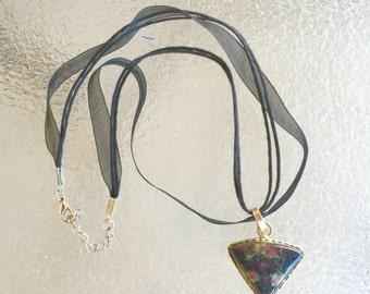 Fancy jasper stone necklace