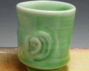 Shot Glass/Vodka Shooter/Tea Cup/ Sake Cup Porcelain, Wheel Thrown