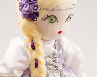 Brianna - Handmade Cloth Doll