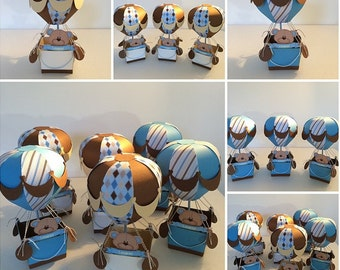 Baby Shower Centerpieces Balloon bear individual