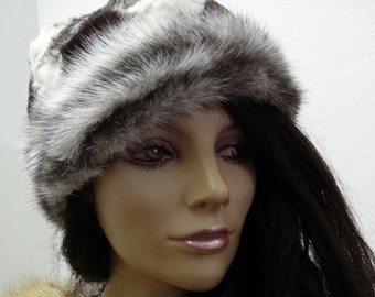 New!Natural,Real Mink Fur HAT!!! Новая шапка norka!!