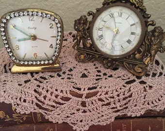 Vintage Clocks Cherubs And Rhinestones