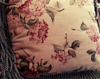 Vintage pair floral pillows