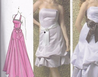 Simplicity 3885 Vintage Pattern Womens Prom Dress, Bridesmaid Dress, Formal Dress, Strapless Evening Gown in Variations Size 14,16,18,20,22