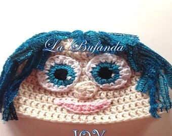 Inside Out Crochet Joy Kids Hat, Inspired Character Beanie, Kids and Adults Hat
