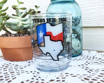 Texas Independence Sesquicentennial Glass - 1836-1986