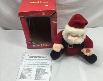 Department 56 Movers & Shakers Voice Recognition Santa