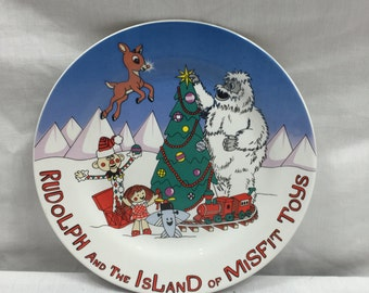 """Rudolph and The Island of Misfit Toys Collectors Plate 8"""""""