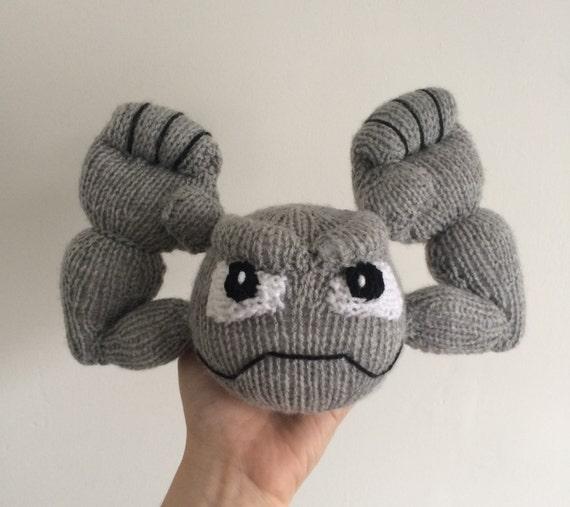 Geodude knitting pattern pokemon pattern knit knitted plushie toy amigurumi