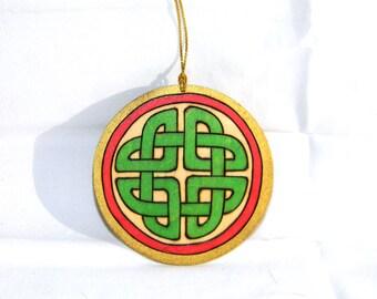 Ornament - Celtic Knot Green