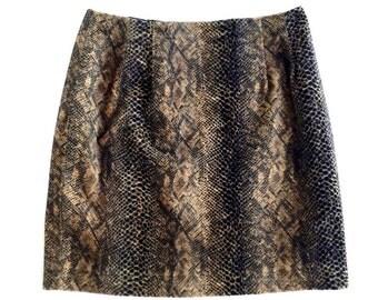 90's Fuzzy Animal Leopard Print Aline Skirt