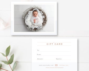 Newborn Photographer Gift Card Template, Photographer Templates, INSTANT DOWNLOAD