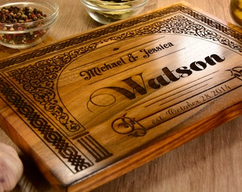Cutting board walnut, wood cutting board, walnut serving board, wedding shower gift, custom wedding gift, anniversary gift, chopping board