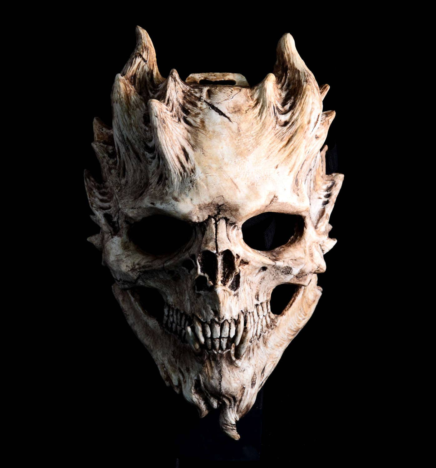 Pre order bone warrior aged bone skull mask demon skull - Devil skull wallpaper ...