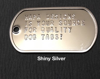 Quality Custom Made Military Dog Tags - Complete Set, not just 1 tag!