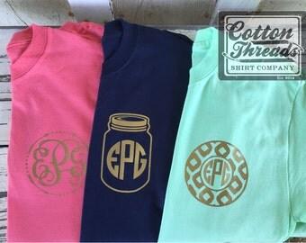 3 Monogrammed Short Sleeve T-Shirt Bundle