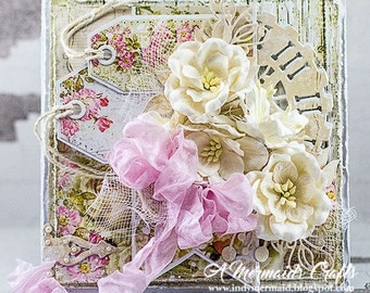 Shabby Chic Layered Greeting Card For Any Occasion