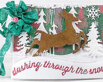 Dashing Through the Snow Handmade Christmas Card