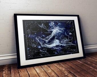 Pegasus Constellation Print, Astronomy Print, Constellation Art