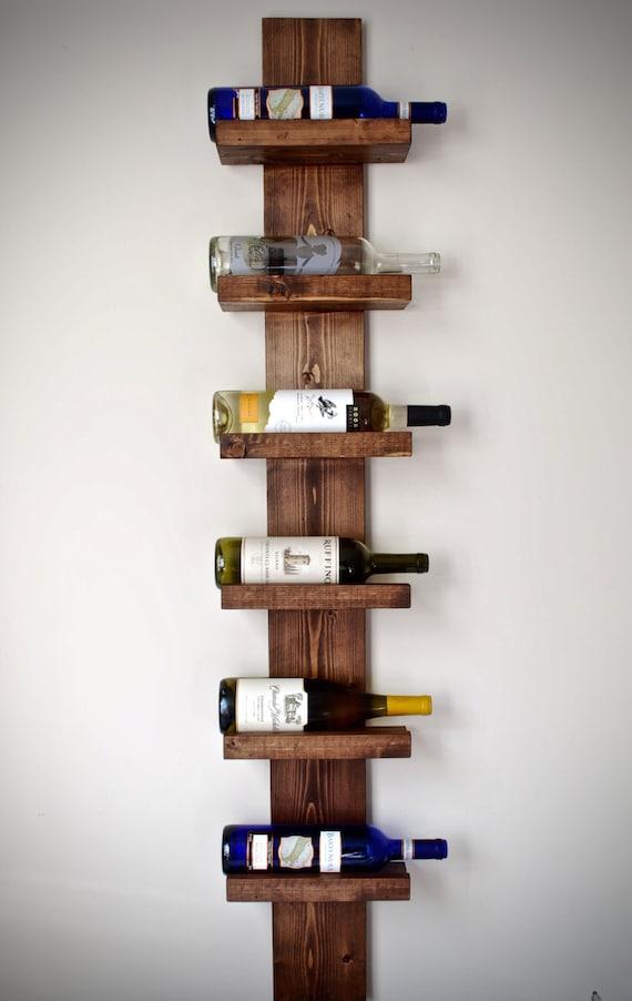 Rustic Wine Rack Vertical Wine Rack Rustic Modern Wine Rack
