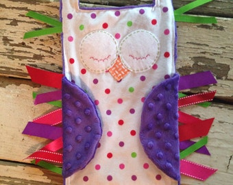 Hoot Owl Taggie Blanket