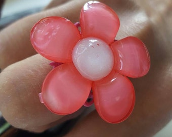 SALE! Pink Daisy Summer Ring