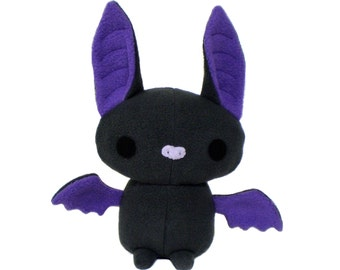 Plush Bat Sewing Pattern, DIY Stuffed Bat, Bat PDF, Stuffed Animal Pattern, Stuffed Bat Toy, Bat Pattern, Plushy Bat Toy Pattern, Bat Sewing