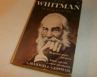 The WALT WHITMAN READER 1955 Paperback Book Leaves of Grass Author