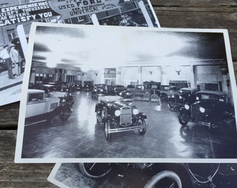 Excellent Big Black & White 1930-31 Model A Ford Dealership History Picture.