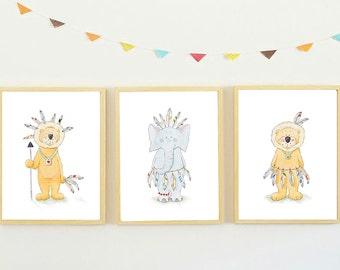 Lion Nursery Art,Elephant Nursery Art,Boys Nursery Art,Boys Nursery Decor,Elephant Nursery,Lion Nursery,Baby Boy Nursery Art,Boys Room Art