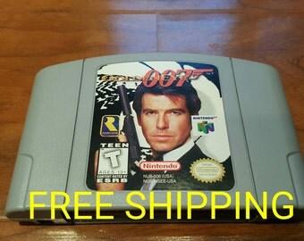 Goldeneye 007, Goldeneye 007 Nintendo 64 n64 video game console system, James Bond 007, goldeneye n64