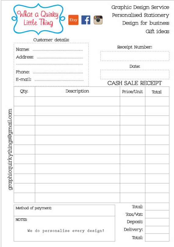 Cash Receipt Book Printable Petty Cash Receipt Receipt  Printable Receipt Book