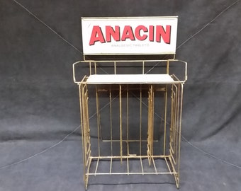 Rare Vintage Anacin Wire Store Display Rack