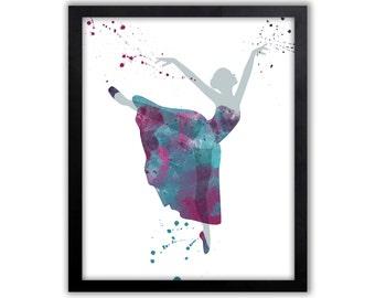 Watercolor Ballet, Ballerina Painting, Girls Art, Limited Edition Fine Art Print - DS2001P