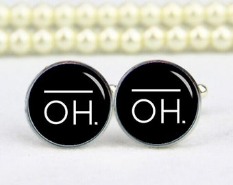 oh cufflinks, oh art sign, wedding gifts, custom any text, photo, logo, personalized cufflinks, custom wedding cufflinks, groom cufflink