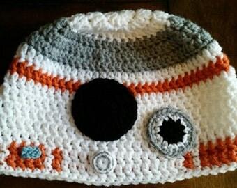 Children's BB8 Crochet Hat