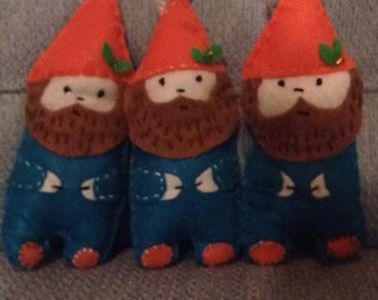 Bearded Gnome Felt Ornament