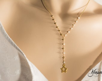 Freshwater cultured pearl on vintag Anklet