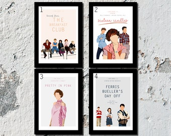 SET OF 3 OR 4 John Hughes high quality film prints (A5, A4, A3)