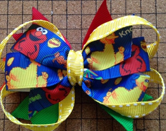 Sesame street /Elmo hair bow