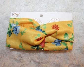 1-3Y Yellow Floral Turban