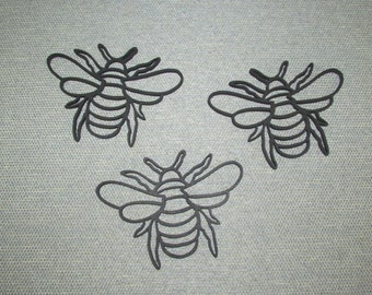 Three Bumble Bees Wood Wall Art Decor