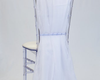 White Chiffon Chiavari Chair Sash